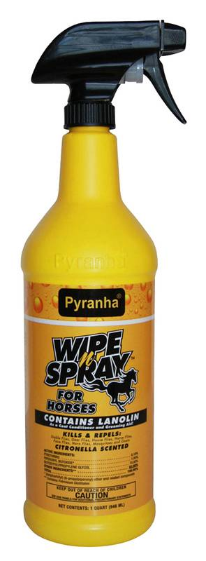 Pyranha Wipe N' Spray Fly Spray