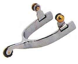 STA-BRITE Stainless Steel Men's Roping Spur