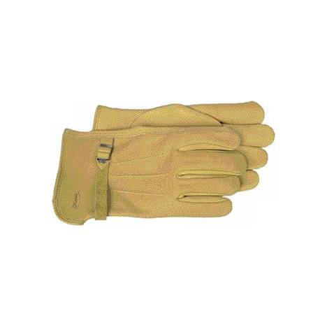 6 Pair of Grain Leather Work gloves with Wrist Buckle