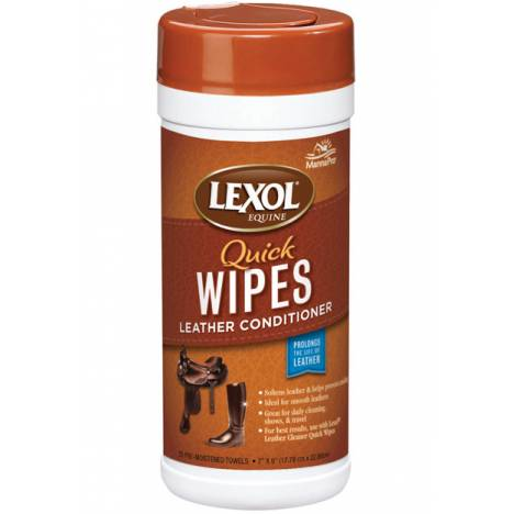 Manna Pro Lexol Quick Wipes Leather Conditioner