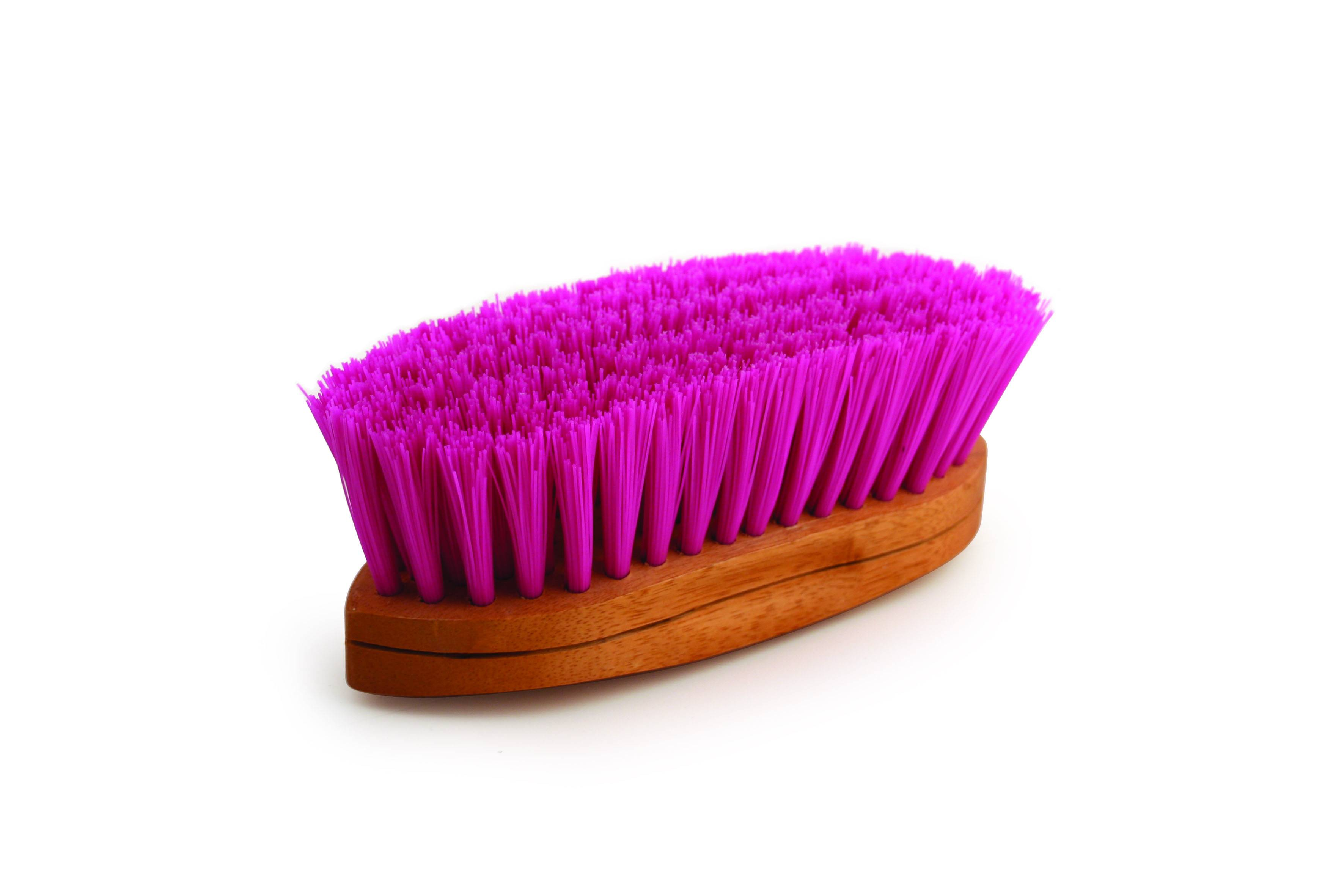 Legends Stiff Poly Curved-Back Grooming Brush