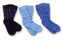 TuffRider Pony Club Horseshoe Print Socks - 3 Pack