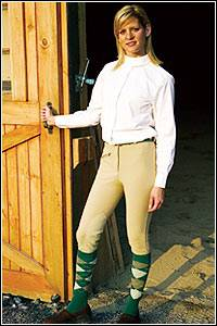 TuffRider Ladies Ribb Knee Patch Breech