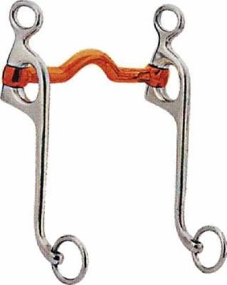 STA-BRITE Stainless Steel Copper Mouth Walking Horse Curb Bit