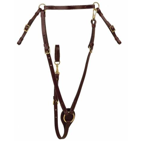 TORY LEATHER Hunt Breast Plate - Brass Hardware