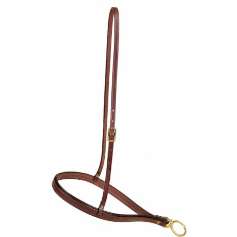 TORY LEATHER English Bridle Leather Roper Noseband - Brass Hardware