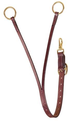TORY LEATHER Bridle Leather Training Fork - Brass Hardware