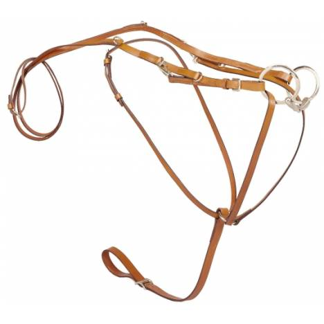 TORY LEATHER German Martingale & Reins - Center Buckle