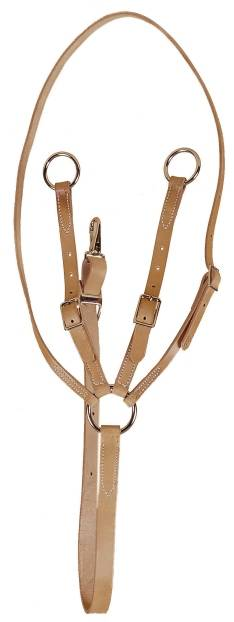 TORY LEATHER Training Fork Martingale - Nickel Hardware