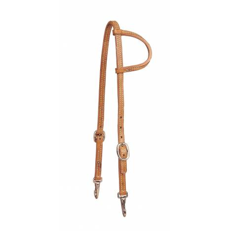 TORY LEATHER Slip One Ear Headstall - Snap Bit Ends