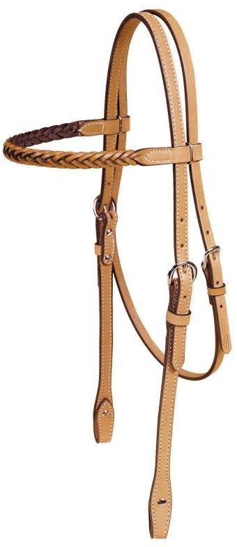 TORY LEATHER Braided Brow Band Headstall