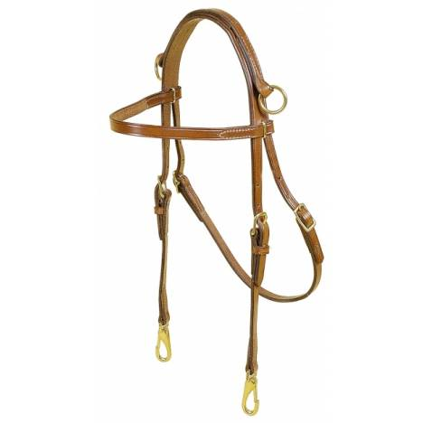 TORY LEATHER Sidecheck Training Headstall - Slots