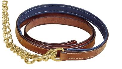 TORY LEATHER 1'' Padded Lead - Brass Chain