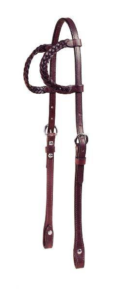 TORY LEATHER Braided Double Ear Bridle Leather Heastall