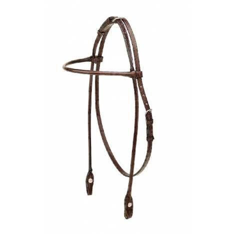 TORY LEATHER English Bridle Leather Rolled Arabian Browband Headstall