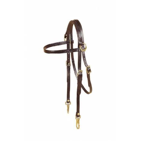 TORY LEATHER Sidecheck Arabian Training Headstall - Snap Ends