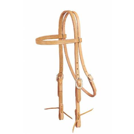 TORY LEATHER Browband Headstall - Tie Ends