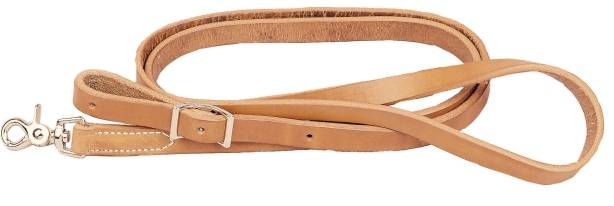 TORY LEATHER Flat Rein - Nickel Hardware
