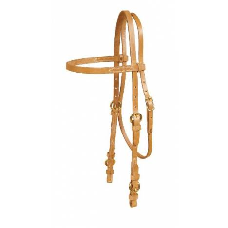 TORY LEATHER Single Ply Browband Headstall - Buckle Bit Ends