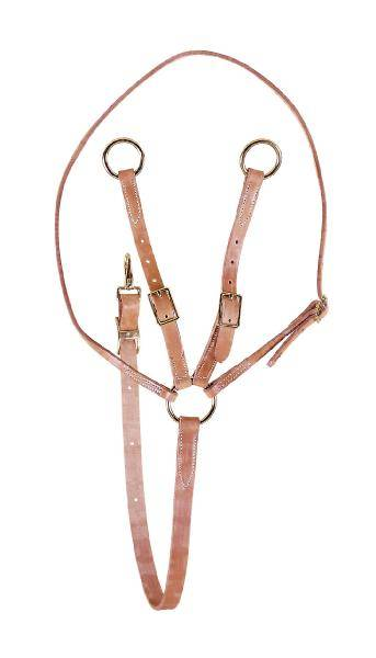 TORY LEATHER Training Fork Martingale - Brass Hardware