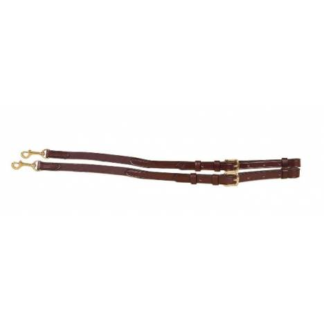 Tory Leather Bridle Leather & Elastic Side Reins