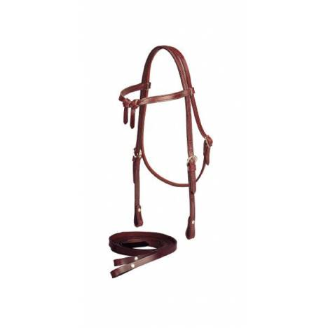 Tory Leather 5/8'' Brow Knot Headstall with Single Ply Reins
