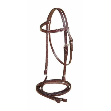 TORY LEATHER Pony Browband Headstall & Reins Filling