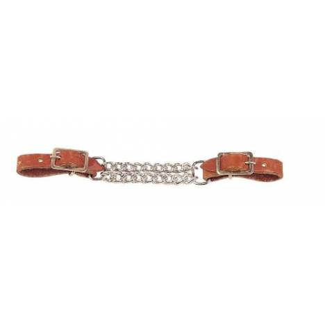 TORY LEATHER Double Chain Curb Strap