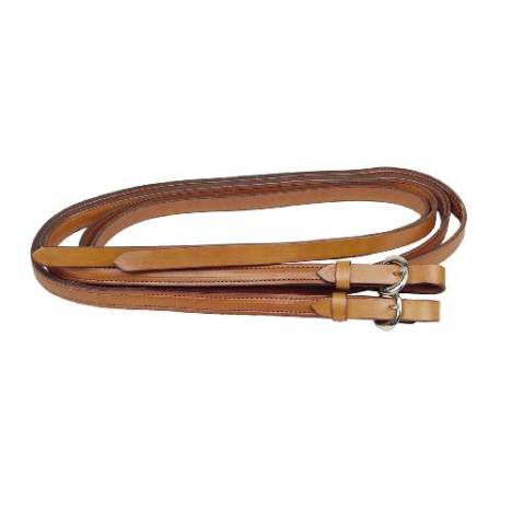 TORY LEATHER Partial Double & Stitched Split Weighted Reins