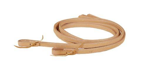 TORY LEATHER Full Double & Stitched Reins - Water Strap Ends