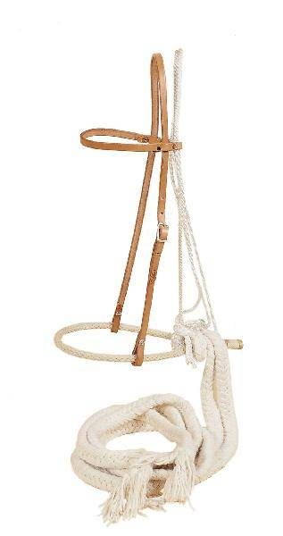 TORY LEATHER 1/2'' Bosal - Heastall & Cotton Beraking Reins