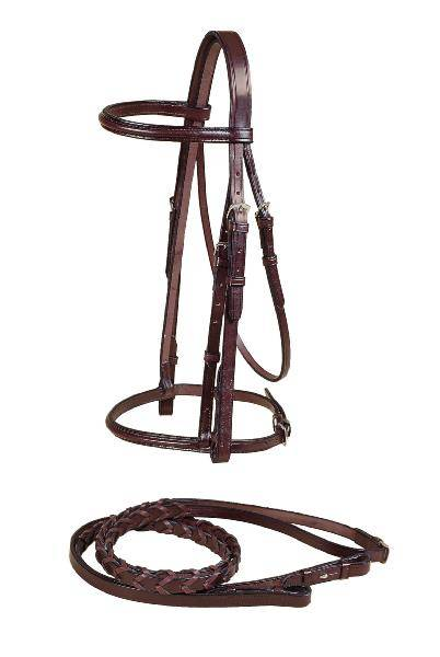 TORY LEATHER Round Raised Snaffle Bridle