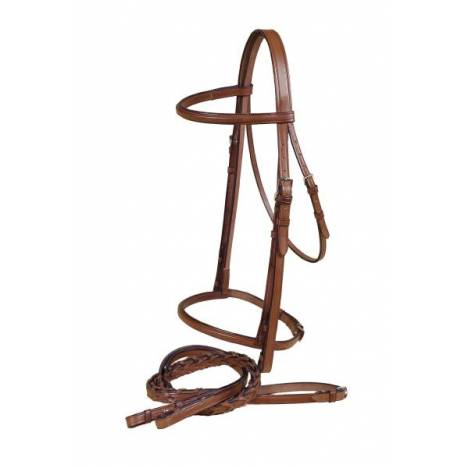 TORY LEATHER Square Raised Snaffle Bridle