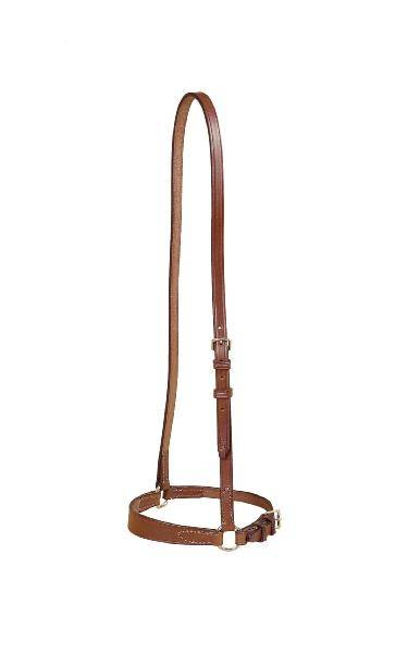 TORY LEATHER Bridle Leather Drop Noseband - Tapered Nose & Nickel Hardware