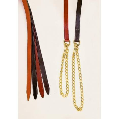 TORY LEATHER 1'' Single Ply Lead - Brass Chain