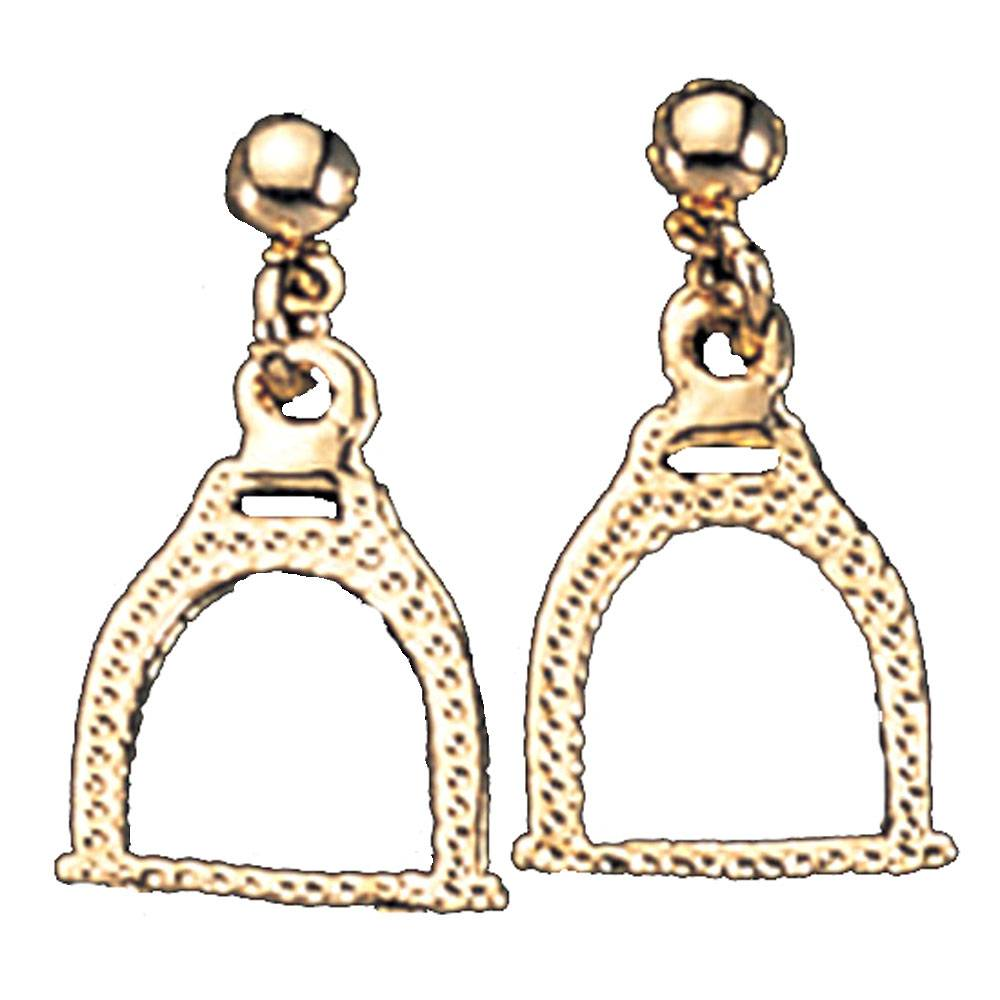 Exselle Textured Stirrup Earrings
