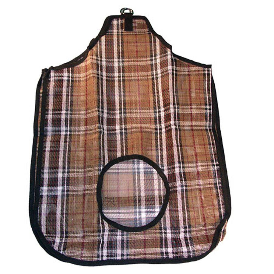 Plaid Mesh Hay Bag