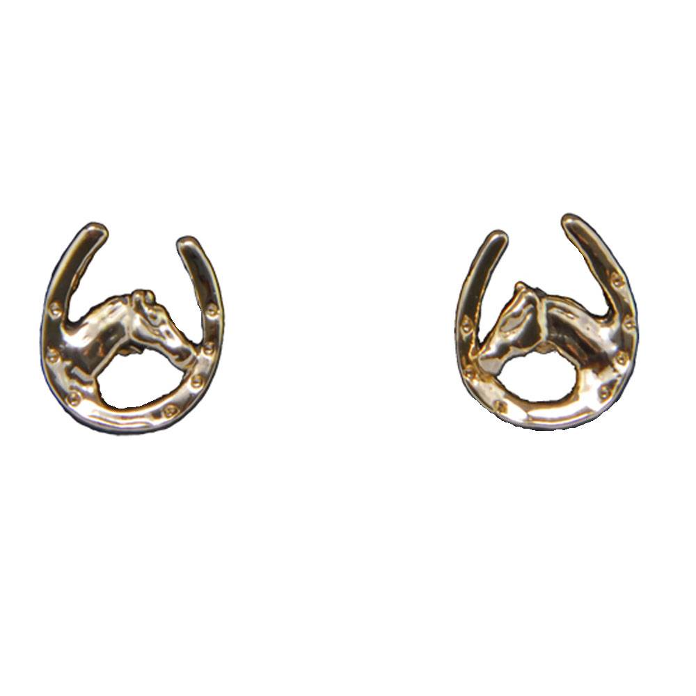 Exselle Horse Head in Horseshoe Earrings
