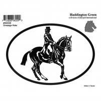 Dressage Horse And Rider Decal - Pack of 6