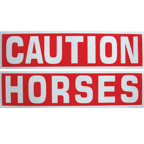 Caution Horses Reflective Sticker