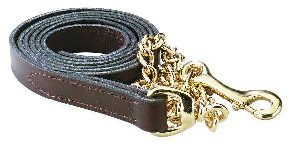 Perri's Leather Lead With 30'' Chain