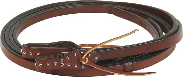 Schutz Brothers Spotted Chocolate Tear Drop Split Reins