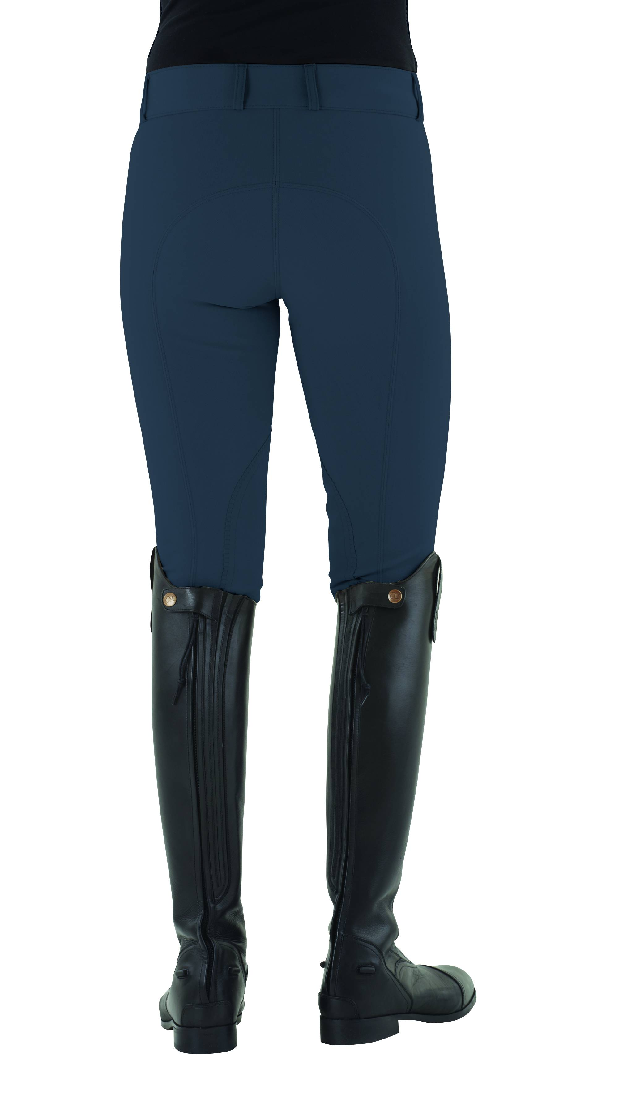 Ovation Ladies Celebrity Euroweave DX Front Zip Knee Patch Breech