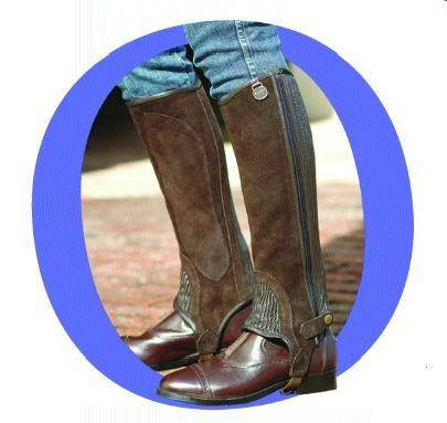 Ovation Kids Premium Suede Stretch Half chaps.