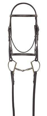 Camelot Raised Fancy Stitch Snaffle Bridle