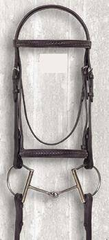 Camelot Raised Braided Snaffle Bridle