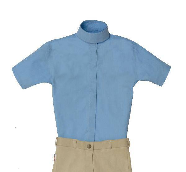 Equi-star EZE Care Kids Short sleeve Cotton show shirt.