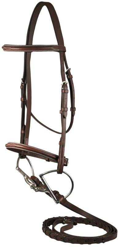 DaVinci Fancy Raised Bridle with Flat Laced Reins