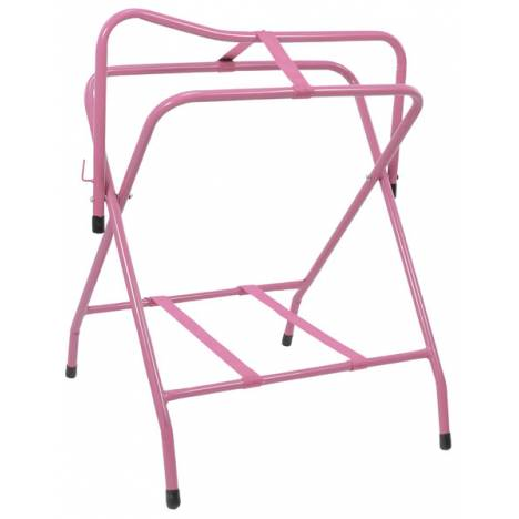 Tough-1 Folding Floor Saddle Rack with Web Bottom