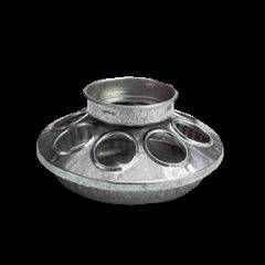 Galv. Round Jar Feeder Base for chicks